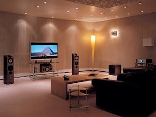 Decoração de sala com Home Cinema