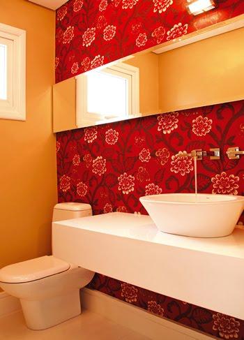 Papel de parede para casa de banho ideias decora o - Aplicacion para decorar casas ...