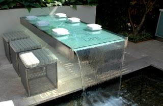 Ideias de decoração mobiliário - Mesas de vidro Jardim