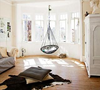 Ideias de decoração mobiliário | Banco suspenso, baloiço