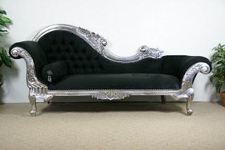 Ideias decoração mobiliário | chaise longue clássica em prata