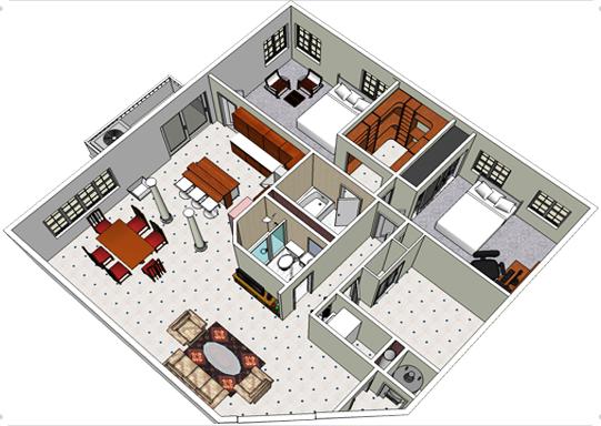 ideias e projetos de decoracao de interiores:decoração de interiores , para aproveitar o espaço disponível de