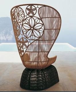 Ideias decoraç ão mobiliário | poltrona de exterior em vime