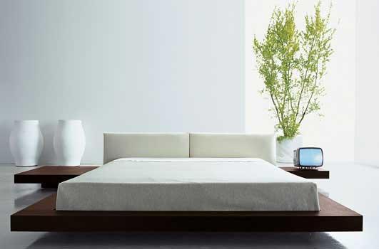 Cama casal japonesa ideias decora o mobili rio for Zen type bedroom ideas