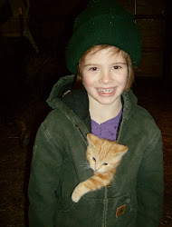 Emilee with a barn kitten
