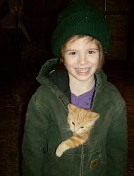 Emilee with a barn kitten