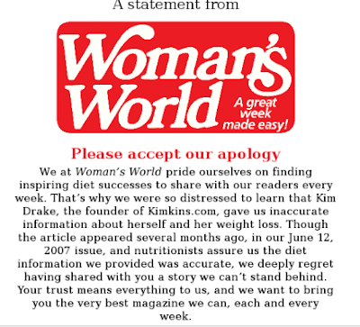 Woman's World apology