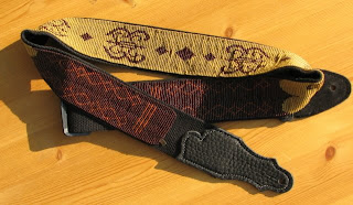 Julia Bristow Jewelry: Beaded Guitar Straps now available at Norman's Rare Guitars
