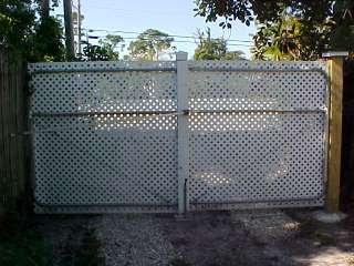 A Layman S Den Pvc Lattice Amp Pipe Driveway Gate
