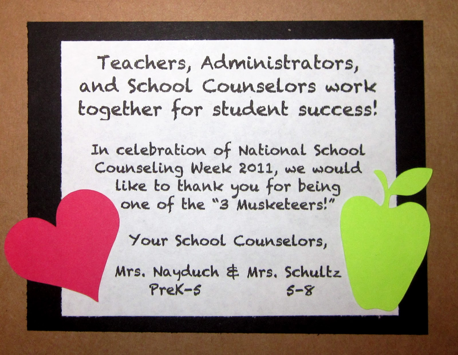 """School Counselor Blog: """"3 Musketeers for Student Success ..."""
