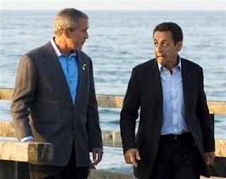 Sarkozy kaj Bush