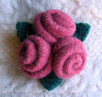 Handmade Felted Wool Rose Brooch Tutorial by Felt Sew Good