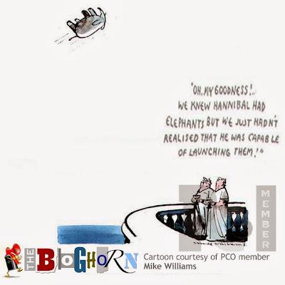 Bloghorn, Foghorn, Mike Williams cartoon, Professional Cartoonists' Organisation
