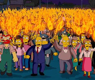 Angry Simpsons Mob