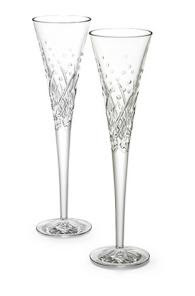 Waterford Wishes Flutes Happy Celebrations Pair