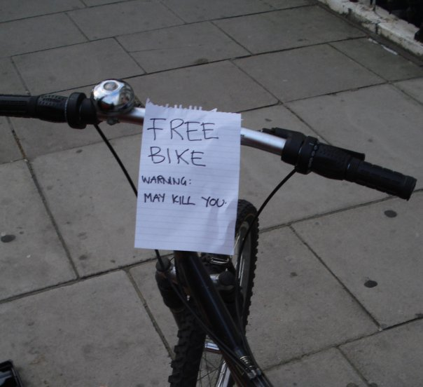 pomoć oko krađe bicikla - novčana nagrada Freebike
