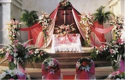 Contoh Rangkaian Bunga Altar
