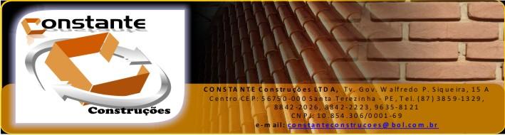 CONSTANTE - CONSTRUÇÕES LTDA