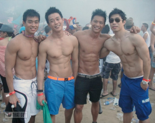 people care guy wears hot asian muscle speedo