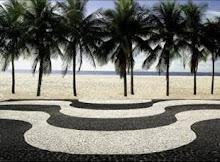 Calçadão da Praia de Copacabana no Rio de Janeiro