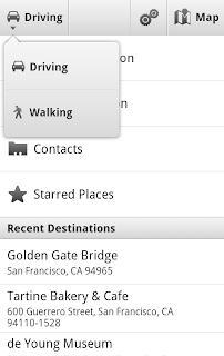 navigationiconwalking cropped Google Maps for Mobile Android Now Offers Walking Navigation and Update Search Bar