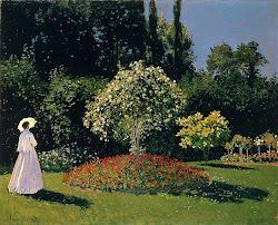 Claude Monet - Mulher de Branco no Jardim
