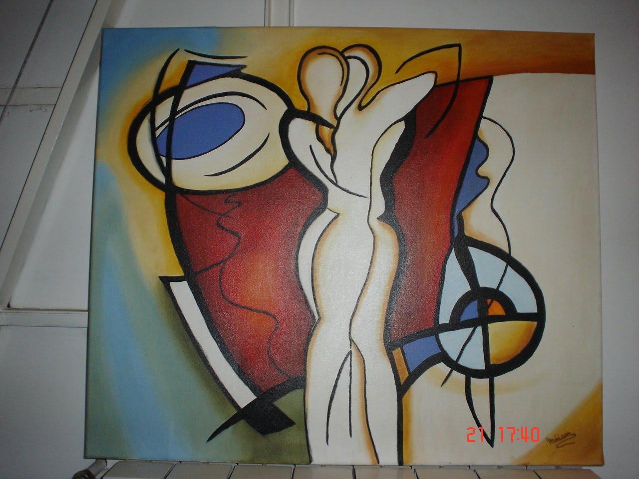 Arte en cuadros MG: Pareja abstracta