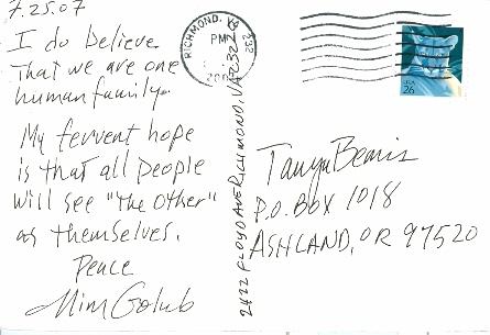 Mim Golub, USA, Posted 08/07