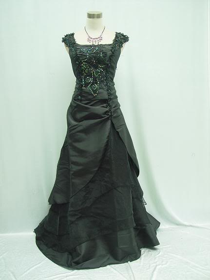 Gothic and Black Wedding Dresses