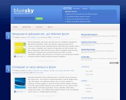 Bluesky wordpress theme