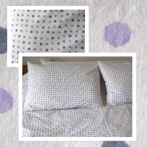 Some like it dot duvet cover in mauve and blue dots - Housse de couette mauve ...