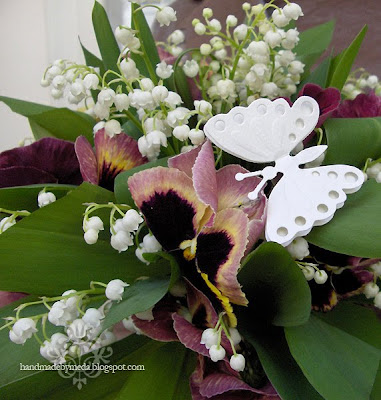 butterfly on wedding bouquet
