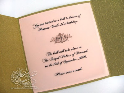 Princess Emily's 21'st Birthday Invitation (Invitatie la ziua de