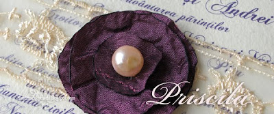 satin and pearl flower detail