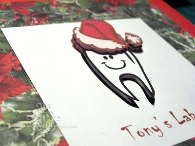 3D decoupage Christmas tooth