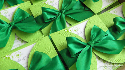 green wedding invitations