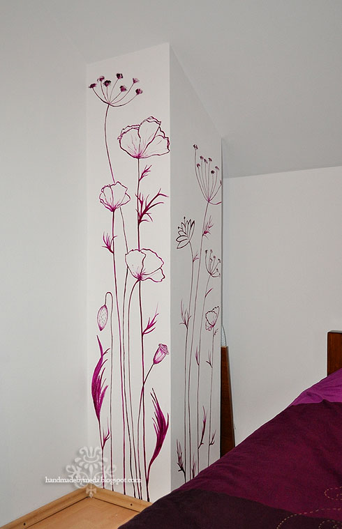 wall painting pictura pe perete handmade by meda