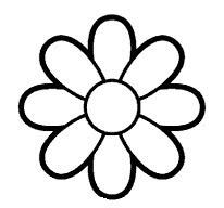 flores para colorir simples margarida petalas desenhos para colorir
