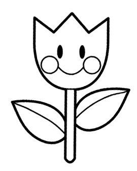 flor para pintar lirio sorridente desenhos para colorir
