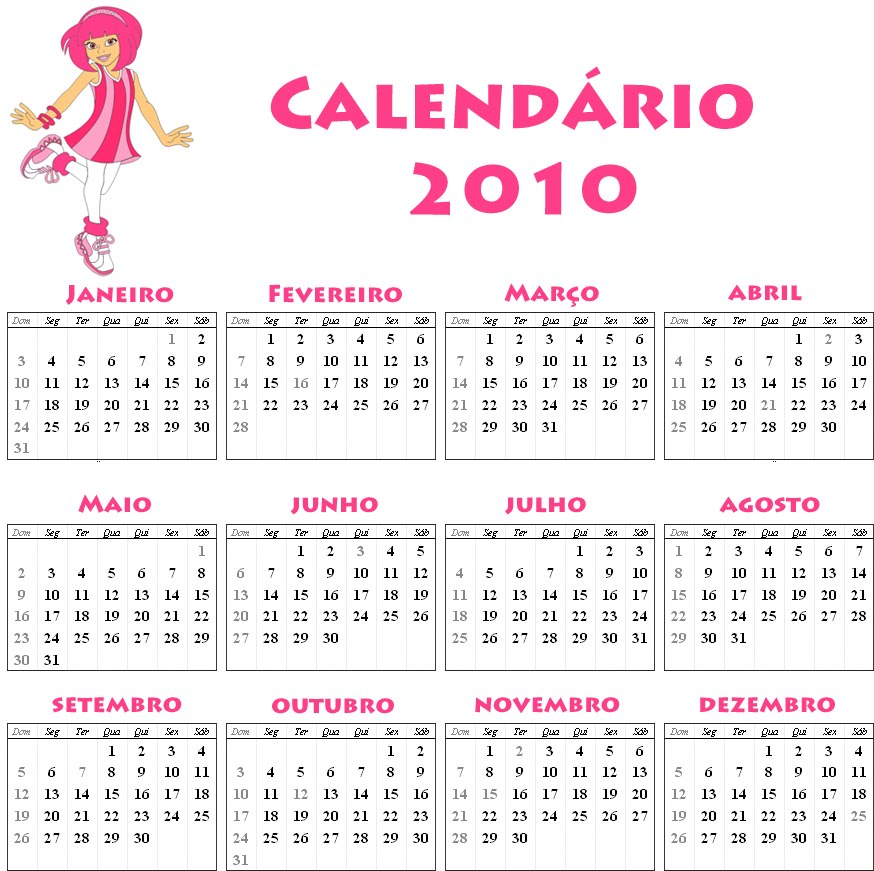 Calendar Template For Excel 2010