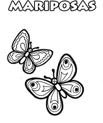 Colorear es Divertido: Mariposas para Colorear - Dibujos de Animales