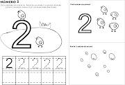 Numero 2 para ColorirAprender a escrever numeros