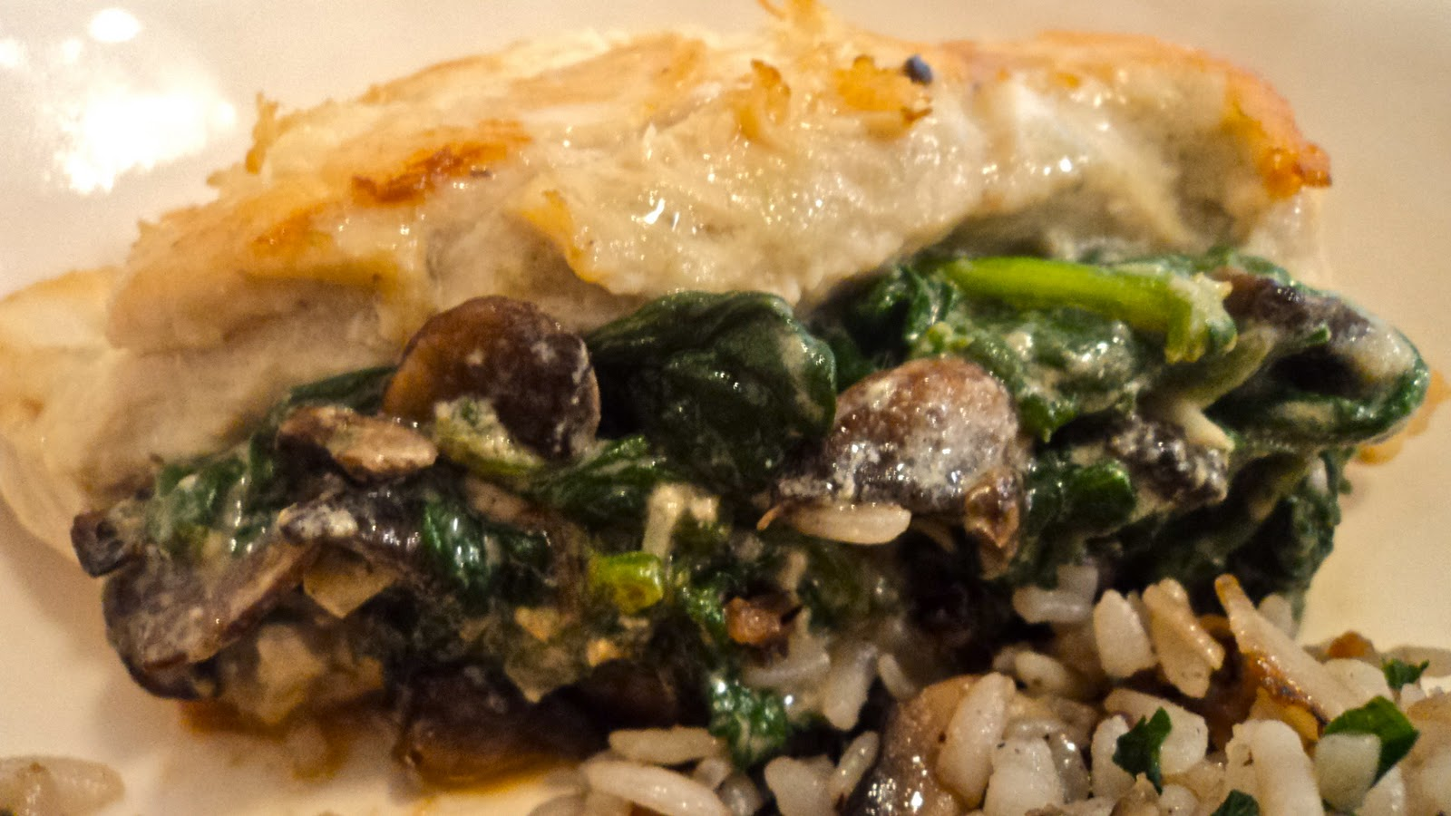 flavorfull: Spinach and Mushroom Stuffed Chicken Breasts
