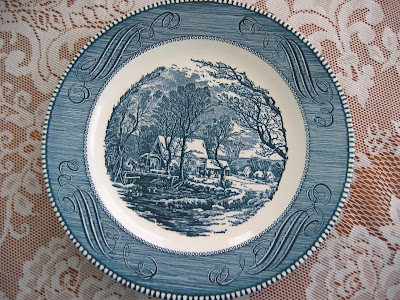 Show and Tell Friday - Currier and Ives Dishes