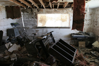Home interior after Hurricane Katrina