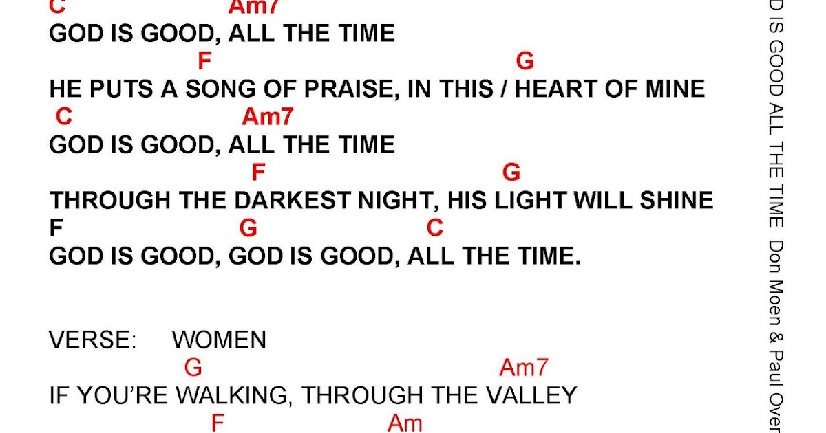 Lyric mercy mercy hillsong lyrics : GOD IS GOOD (ALL THE TIME) - lyrics and chords ~ Faith and Music