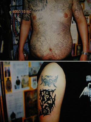 Body Piercing and tattoo body art to decoration. Body Piercing and tattoo