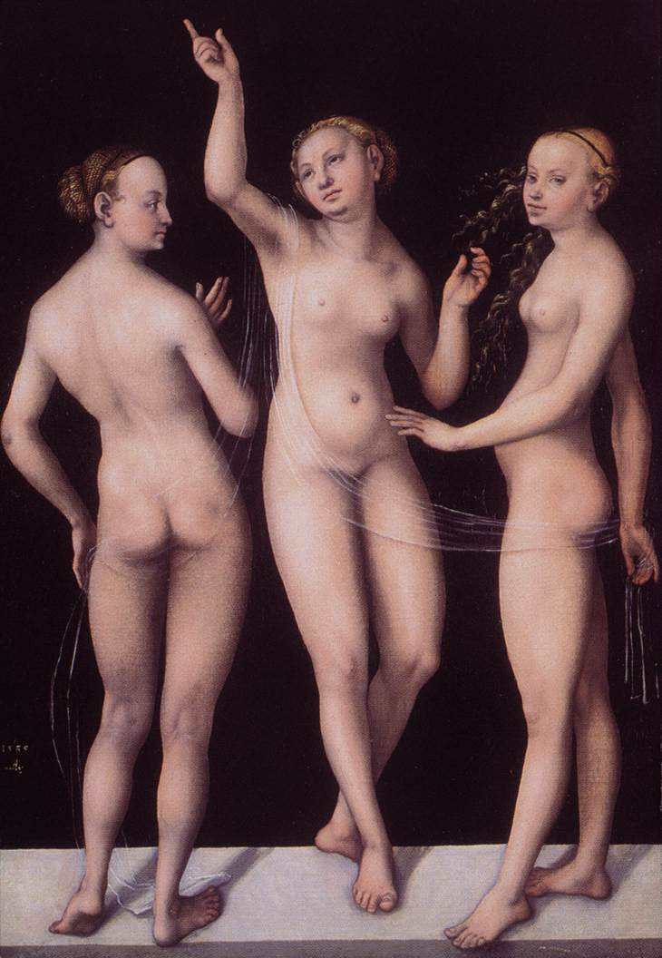 Louvre Appeal - Cranach's Three Graces | View from the Bow