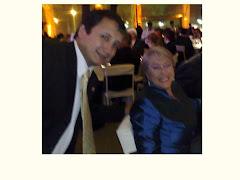 Lucho Jimenez y Michelle Bachelet