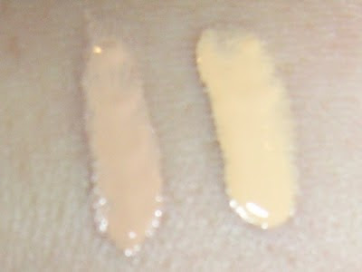 Yaby Liquid Foundation Buff and Custard swatches